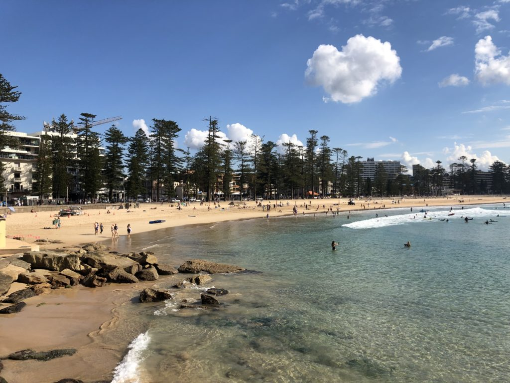 Sunday morning at Shelly Beach Smart Beaches Project Trial Site