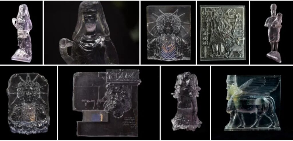 Figure 2. Morehshin Allahyari, Material Speculation: ISIS (selected examples), 2015, SLA 3D-printed photopolymer sculpture, and USB Drive with files, images, and videos. 30.5 × 10.2 x 8.9 cm.